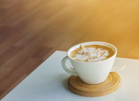 coffee table: Coffee on the white table Stock Photo