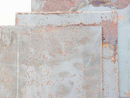 tine: Rust on old metal plates. Stock Photo