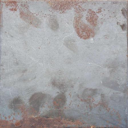 old metal: Rust on old metal plate.