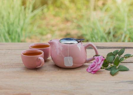 trivet: Tea on the wooden floor.
