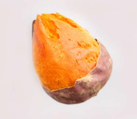 osier: Baked sweet potato white background