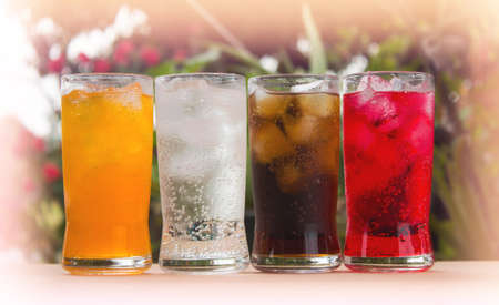 sparkling water: sparkling water in a glass Stock Photo