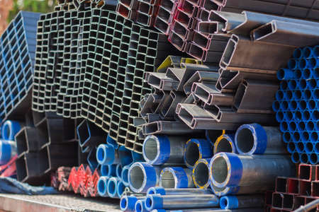 aluminum rod: Truck steel used in construction. Stock Photo