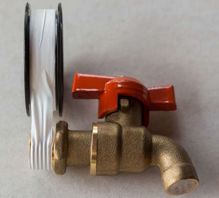 plumbing accessories: Tape wrapped spiral faucet
