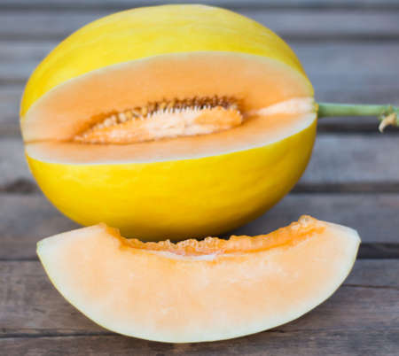 cutted: Fresh Sweet Yellow Melon.