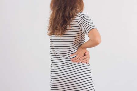 back ache: Women have waist pain.