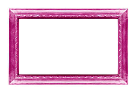 The antique pink frame on the white background  Stok Fotoğraf