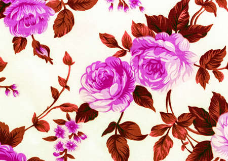 Rose Fabric background, Fragment of colorful retro tapestry text on pink background, Fragment of colorful retro tapestry textile pattern with floral ornament useful as  background Фото со стока