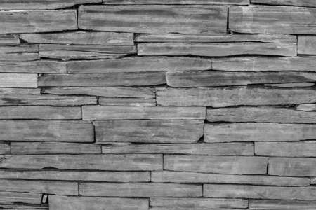 pattern of modern brick wall, slate stone wall surface and background texture photo