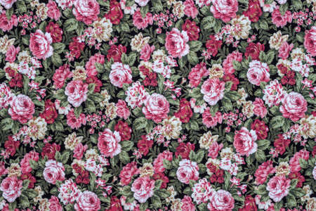 Rose Fabric background, Fragment of colorful retro tapestry text, Fragment of colorful retro tapestry textile pattern with floral ornament useful as background Reklamní fotografie - 33274077