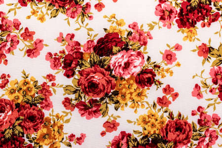 Rose Fabric background, Fragment of colorful retro tapestry