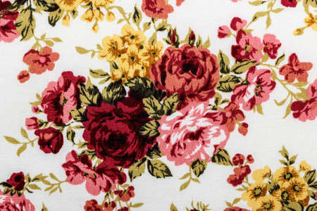 tapestry: Rose fabric background, Fragment of colorful retro tapestry