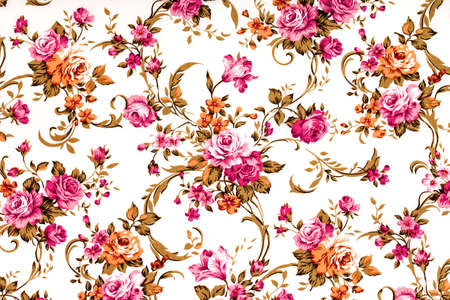 Rose fabric background, Fragment of colorful retro tapestry Reklamní fotografie - 33380148