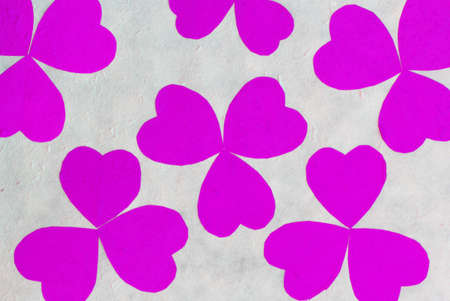 mulberry paper: Pink flower paper shape on white Mulberry paper background , Mulberry paper background Stock Photo