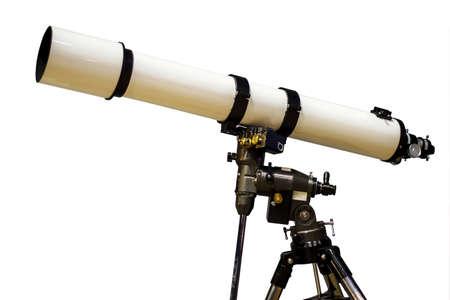 White telescope Stok Fotoğraf