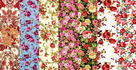 Rose Fabric background, Fragment of colorful retro tapestry text, Fragment of colorful retro tapestry textile pattern with floral ornament useful as background Фото со стока
