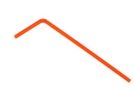Orange straw on white background Reklamní fotografie