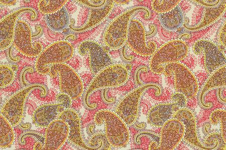 paisley seamless pattern: Floral paisley seamless pattern fabric Stock Photo