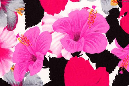 beautiful rose: Pink hawaiian hibiscus fabric background