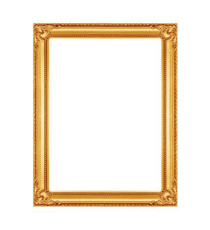 Le cadre de vieil or sur le fond blanc Banque d'images - 47868691