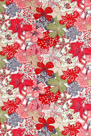 vintage style of tapestry flowers fabric pattern background Reklamní fotografie