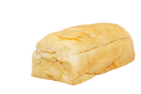 Pain avec du porc déchiqueté séché et la mayonnaise sur fond blanc Banque d'images - 47869782