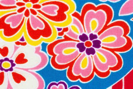 Japanese pattern of sakura flower on fabric background, Seamless traditional japanese pattern Reklamní fotografie