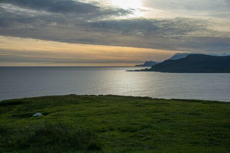 achill: Sundown at the wild atlantic way, Republic of Ireland, Achill Island Stock Photo