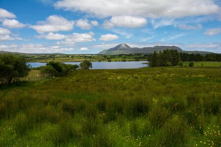 Lakeside with mountain in the background, Ballycroy Nationalpark, Republic of Ireland