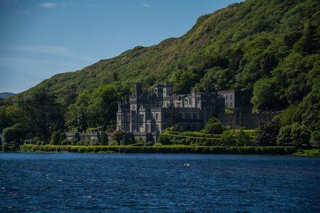 connemara: Kylemore Abbey from behind the lake, Connemara, Galway, Republic of Ireland, wild atlantic way