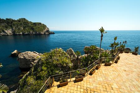 taormina: Isola Bela in Taormina in Sicily, Italy