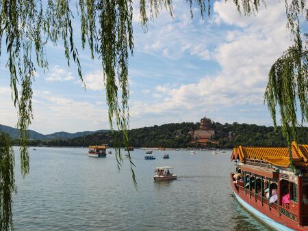 summer palace: Summer palace in Beijing at Kunming Lake, China