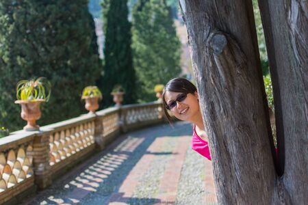 portraiture: Portraiture of beautiful asian woman in Taormina in Sicily