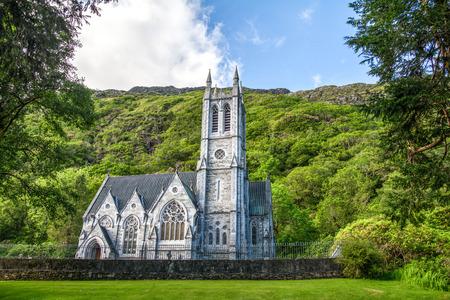 Gothic church in Connemara mountains Ireland