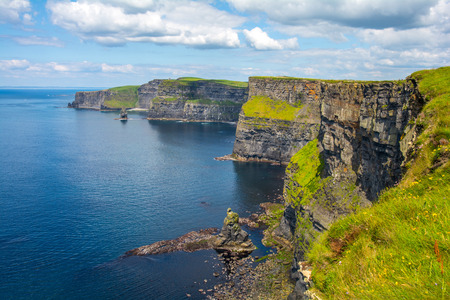 moher: Cliff39s of Moher Ireland wit blue sky