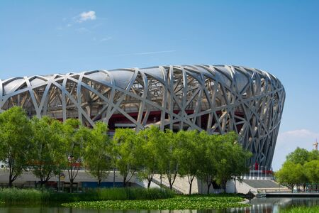 olympic stadium: Birdsnest in Beijing, China, Olympic Stadium