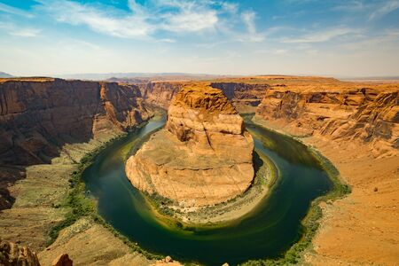 horse shoe: Horse Shoe Bend, Lake Powell Stock Photo