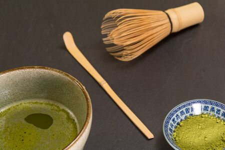 maccha: Matcha Green Tea in a  Matcha Bowl