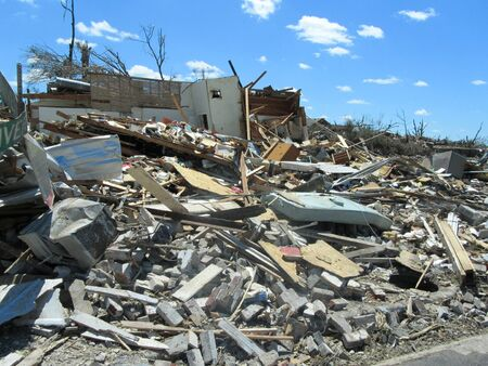 Tuscaloosa, AL, USA - April 28, 2011: damage of the devastating Tornado in Tuscaloosa on April 27. Sajtókép