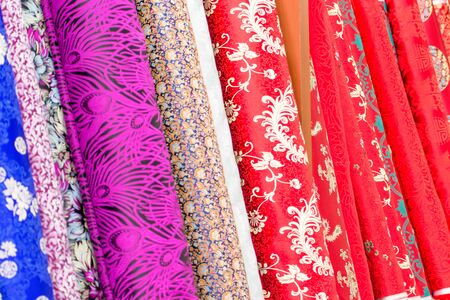 Colorful Silk in Store to be sold in Beijing in China