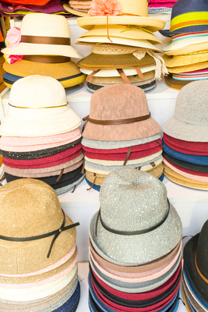 varadero: Hats in a hat store in Beijing China