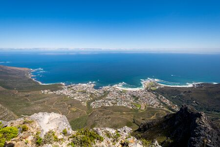 ins: View of top of Table Mountain ins Cape Town in South Africa