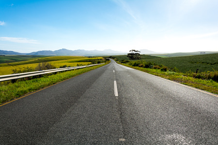 Road leading from Outshoorn to Hermanus, South Africa