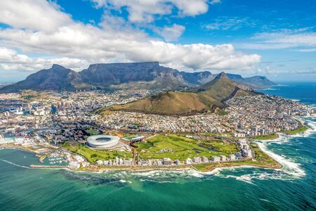 Cape Town and the 12 Apostels from above in South Africa Reklamní fotografie - 66197070