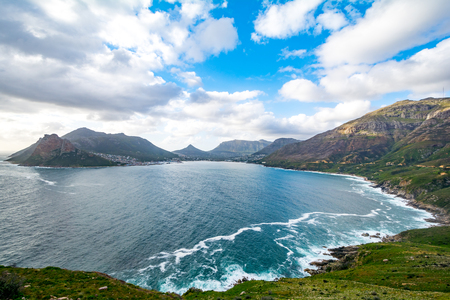 chapmans: View from Chapmans Peak Drive on Hout Bay, Cape Town, South Africa