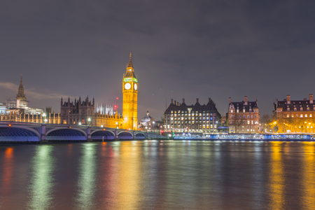 Big Ben and the house of Parliaments, London at night