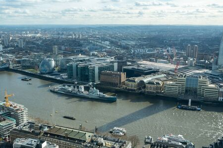 shard: View on London from Sky Garden in London