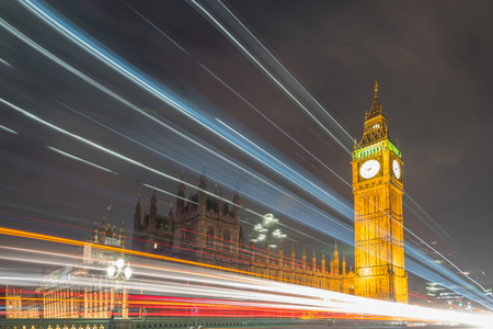 parliaments: Big Ben and the house of Parliaments, London at night