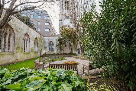 St. Dunstan in the east in London Stock Photo