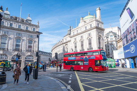 Piccadilly Circus, in London